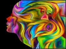 Элегантность фрагментации собственной личности иллюстрация вектора
