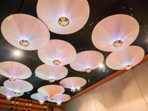 Элегантные лампы в гостинице Стоковые Изображения