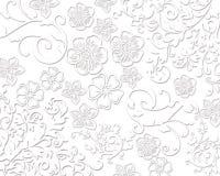 Элегантные белые флористические текстуры Стоковые Фотографии RF