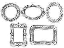 Элегантные богато украшенные рамки Стоковое Изображение RF