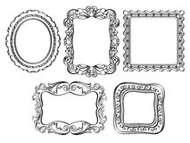 Элегантные богато украшенные рамки Стоковые Изображения RF