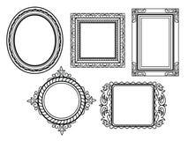 Элегантные богато украшенные рамки Стоковое Фото