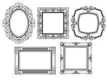 Элегантные богато украшенные рамки Стоковые Изображения