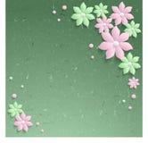 элегантные бумажные цветки 3d стоковая фотография rf