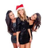 Элегантные женщины празднуя рождество Стоковые Изображения RF