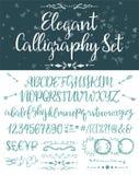 Элегантные каллиграфические установленные письма бесплатная иллюстрация