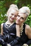 Элегантные мать & дочь Стоковые Фотографии RF