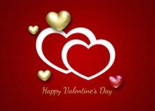 Элегантные сердца валентинки 3D Стоковое фото RF