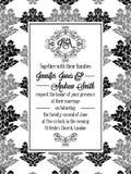 Элегантные флористические свирли, рамка кружевной картины богато украшенная бесплатная иллюстрация