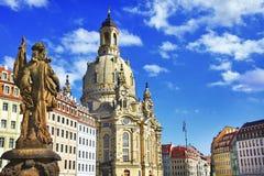 Элегантный барочный Дрезден, Германия стоковые фотографии rf