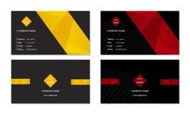 Элегантный вектор шаблона визитной карточки Стоковые Изображения