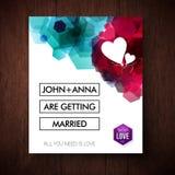 Элегантный выделяющийся дизайн приглашения свадьбы Стоковая Фотография RF