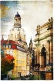 Элегантный Дрезден - художественное произведение в стиле картины Стоковая Фотография RF