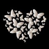 Элегантный значок много градиент бабочек в форме o сердца бесплатная иллюстрация