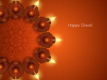 Элегантный дизайн карточки для фестиваля diwali бесплатная иллюстрация