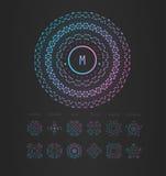 Элегантный линейный абстрактный вензель, шаблон дизайна логотипа иллюстрация вектора