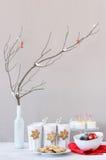 Элегантный дисплей сервировки стола для темы праздника рождества Стоковая Фотография RF