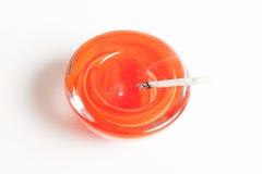 Элегантный красный ashtray стоковое изображение rf