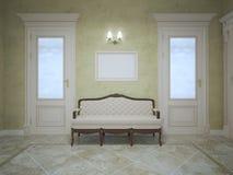 Элегантный стенд между 2 дверями иллюстрация штока