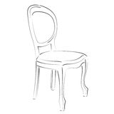 Элегантный сделанный эскиз к стул Стоковое Изображение RF