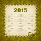 Элегантный шаблон календаря Стоковое Изображение RF