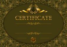 Элегантный шаблон сертификата, диплома иллюстрация вектора