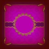 Элегантный шаблон для приглашения роскоши vip Стоковая Фотография RF