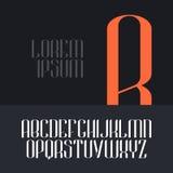 Элегантный шрифт вектора Стоковое Фото