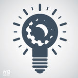 Электрическая лампочка вектора, высококачественный элемент дизайна энергии Стоковые Изображения RF