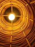 Электрическая лампочка в бамбуковой тени Стоковое фото RF