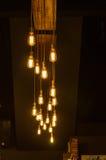 Электрическая лампочка в темноте Стоковое фото RF