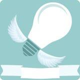 Электрическая лампочка летания Стоковое Изображение