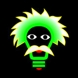 Электрическая лампочка искры на человеческом лице Стоковое Изображение RF