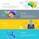 Электрическая лампочка идеи, человеческий мозг, рукопожатие, дело, успех, чашка иллюстрация штока