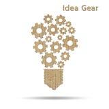 Электрическая лампочка идеи Cog Стоковые Фотографии RF