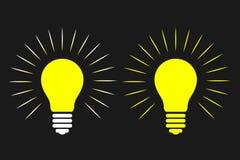 Электрическая лампочка, идея, думая, концепция также вектор иллюстрации притяжки corel Стоковое фото RF