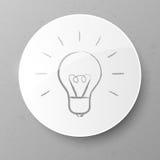 Электрическая лампочка. Иллюстрация вектора. Стоковое Фото