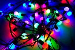 Электрическая лампочка красочная Стоковое Изображение