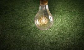 Электрическая лампочка на текстуре Мультимедиа Стоковое Изображение RF