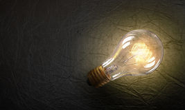 Электрическая лампочка на текстуре Мультимедиа Стоковые Фотографии RF