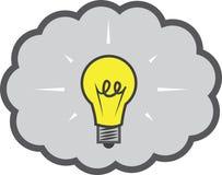 Электрическая лампочка пузыря мысли Стоковые Фото