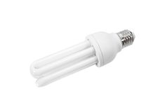 Электрическая лампочка сбережени Стоковое Изображение
