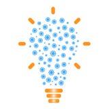 Электрическая лампочка с шестернями Бесплатная Иллюстрация