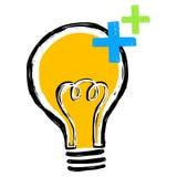 Электрическая лампочка с электрическим зарядом Стоковые Изображения