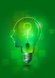 Электрическая лампочка творческий думать Иллюстрация штока