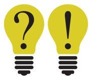 Электрическая лампочка - думая концепция Иллюстрация шаблона вектора Стоковые Фото