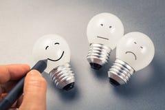 Электрическая лампочка улыбки Стоковое Изображение RF