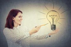 Электрическая лампочка чертежа Стоковые Фотографии RF