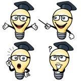 Электрическая лампочка шаржа Стоковое фото RF