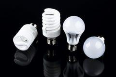 Электрическая лампочка энергии умная спиральная Стоковое Изображение RF